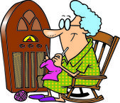 Cartoon Antique Radio — Stock Vector