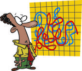 Cartoon Confusing Business Chart — Stock Vector