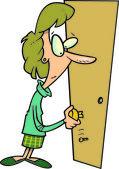 Cartoon Broken Door Handle — Stock Vector