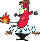 Cartoon Fire Eater — Stock Vector