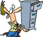 Cartoon File Clerk — Stock Vector