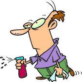 Cartoon Man Cleaning — Stock Vector