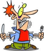 Cartoon Diet Self Control — Stock Vector