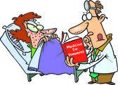 Cartoon Inexperienced Doctor — Stock Vector
