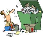 Cartoon Garbage Dumpster — Stock Vector