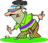 Cartoon Golf Putter — Stock Vector