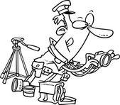 Cartoon Police Photographer — Stock Vector