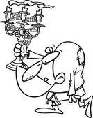 Cartoon Hunchback — Stock Vector