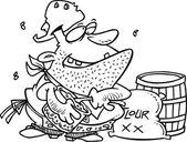 Cartoon Cowboy Cook — Stock Vector