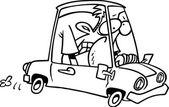 Kreslený kompaktní vůz — Stock vektor