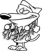 Kreskówka pies boże narodzenie — Wektor stockowy