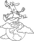 Cartoon International Businessman — Stock Vector