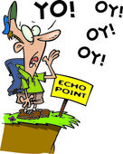 Cartoon Hiker Echo — Stock Vector