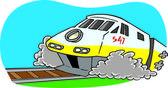 漫画列車 — ストックベクタ