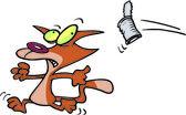 Dibujos animados gato puede — Vector de stock