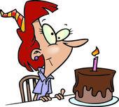 Cartoon Birthday Cake — Stock Vector