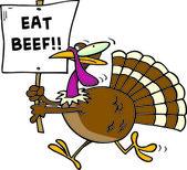 Cartoon Turkey Beef — Stock Vector