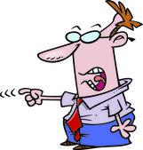 Cartoon Businessman Accuser — Stock Vector