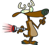 Cartoon Fake Rudolph — Vetor de Stock