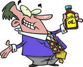 Cartoon Snake Oil Salesman — Stock Vector