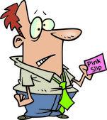 Cartoon Pink Slip — Stock Vector