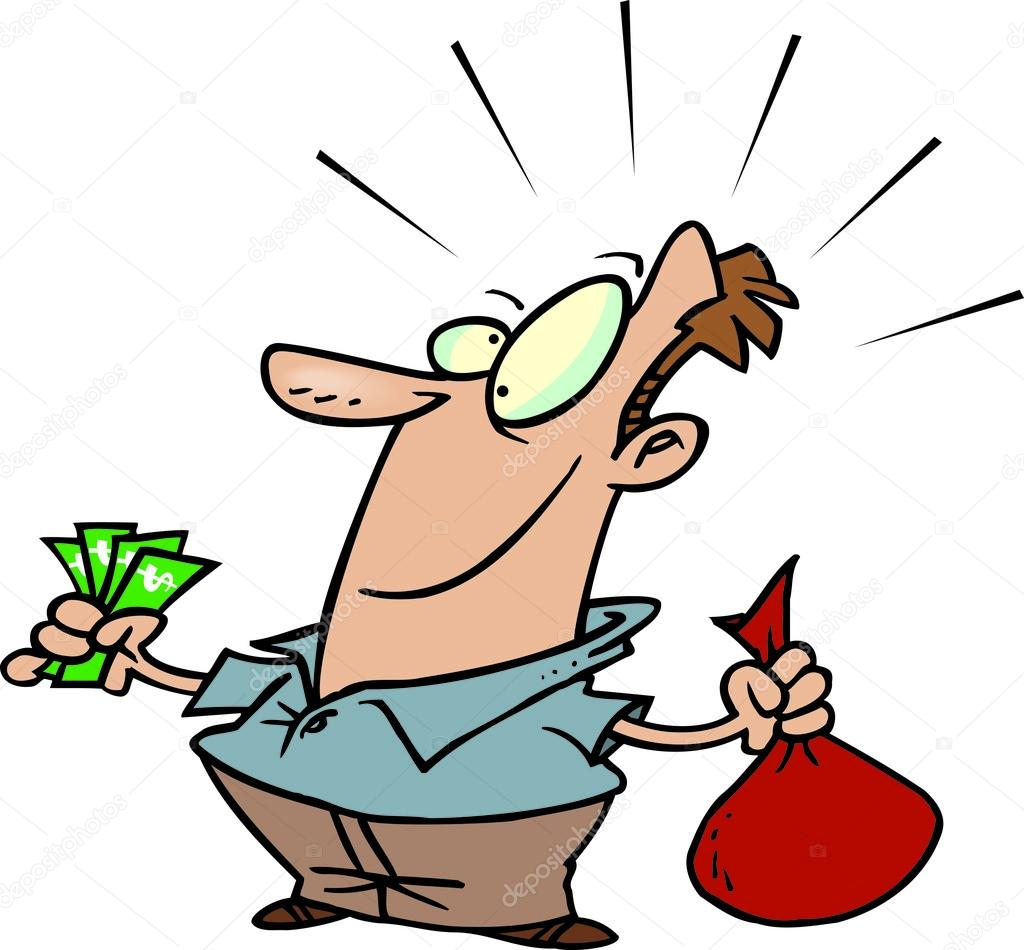 Cartoon Man Saving Money — Stock Vector #13949936