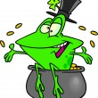 Vector de stock : Cartoon St. Patrick's Day Frog
