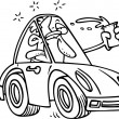 Cartoon Drunk Driver — Imagen vectorial