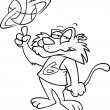 Cartoon Wildcat Basketball — Stockvektor