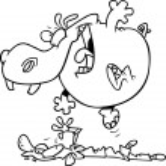 Cartoon Hippo Massage — Stock Vector #13950819