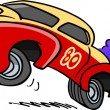 Vector de stock : Cartoon Drag Racing