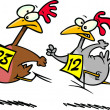 Cartoon Chicken Race - Image vectorielle