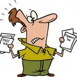 Cartoon bills past due — Stock Vector #13951126