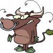 Cartoon bull — Image vectorielle
