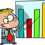 Cartoon kid chart — Stock Vector #13951180