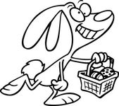 Cartoon Easter Bunny — Stock Vector