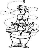 Cartoon Buzzing Insect — Stock Vector