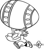 Cartoon Big Easter Egg — Stock Vector