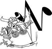 Cartoon Nightingale Alphabet Letter N — Stock Vector