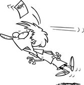 Cartoon Woman Getting the Memo — Stock Vector