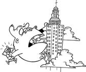 Cartoon King Kong — Stock Vector