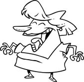 Cartoon Woman Laughing — Stock Vector