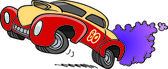 Cartoon Drag Racing — Stock Vector