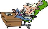 Cartoon Businessman Chatter — Stock Vector