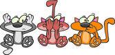 Males de gato de desenho animado — Vetor de Stock