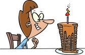 Cartoon Birthday Pancakes — Stock Vector