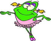 Cartoon ballerina frog — Stock Vector
