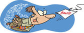 Cartoon bonus bait — Stock Vector
