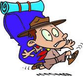 Cartoon boy scout — Stock Vector