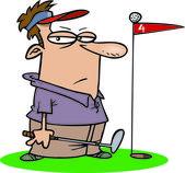 Cartoon Golfer — Stock Vector